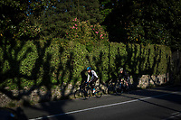 VERBANIA, ITALY - 18 APRIL 2017: Cyclists are seen here by the Lake Maggiore in Verbania, Italy, on April 18th 2017.<br /> <br /> Emma Morano was an Italian supercentenarian who, prior to her death at the age of 117 years and 137 days, was the world's oldest living person whose age had been verified, and the last living person to have been verified as being born in the 1800s. She died on April 15th 2017.
