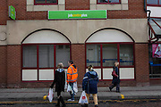 PCS members campaign against the welfare cuts as the universal credit scheme is launched. Ashton under Lyne, Lancashire.