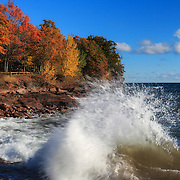 """Crashing Waves in Autumn""<br />