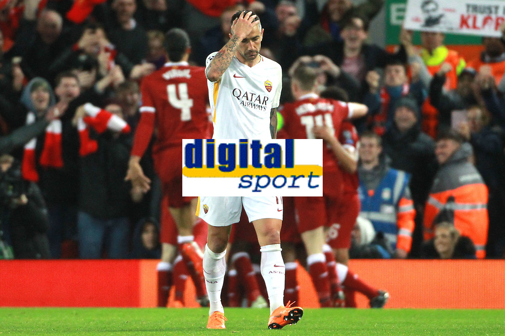 Aleksandar Kolarov Roma delusione Dejection <br /> Liverpool 24-04-2018 Football Champions League 2017/2018 Semifinal First Leg Liverpool - AS Roma Foto Gino Mancini/Insidefoto