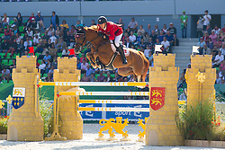 Andreas Schou, (DEN), Lenard Der Kleine - First Round Team Competition Jumping Speed - Alltech FEI World Equestrian Games™ 2014 - Normandy, France.<br /> © Hippo Foto Team - Leanjo De Koster<br /> 03-09-14
