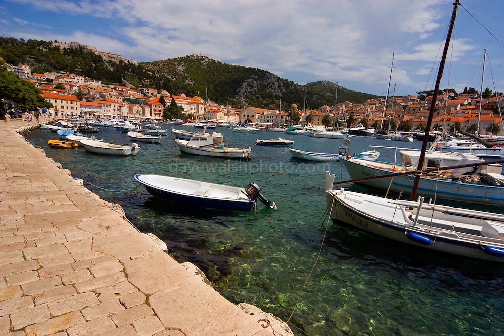 The harbour at Hvar, Croatia