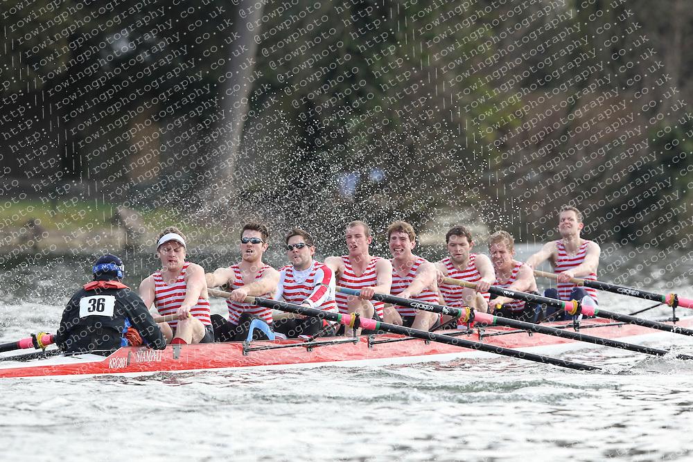 2012.02.25 Reading University Head 2012. The River Thames. Division 1. Kingston Rowing Club IM3 8+