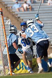 26 April 2009: Duke Blue Devils attackman Will McKee (50) scores during a 15-13 win over the North Carolina Tar Heels during the ACC Championship at Kenan Stadium in Chapel Hill, NC.