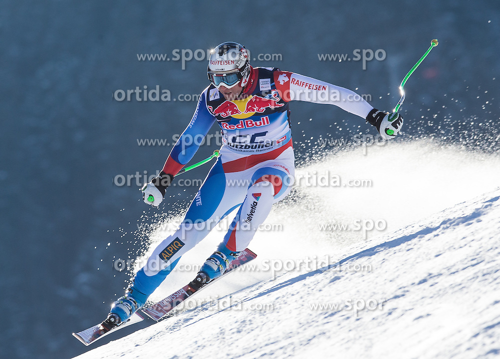 23.01.2013, Streif, Kitzbuehel, AUT, FIS Weltcup Ski Alpin, Abfahrt, Herren, 2. Training, im Bild Silvan Zurbriggen (SUI) // Silvan Zurbriggen of Switzerland in action during 2nd practice of mens Downhill of the FIS Ski Alpine World Cup at the Streif course, Kitzbuehel, Austria on 2013/01/23. EXPA Pictures © 2013, PhotoCredit: EXPA/ Johann Groder