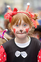 Galway Community Circus member at the Galway St Patrick's Day Parade . Photo:Andrew Downes