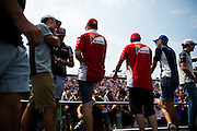 July 21-24, 2016 - Hungarian GP, Sebastian Vettel (GER), Ferrari, Sergio Perez (MEX), Force India, Carlos Sainz Jr. Scuderia Toro Rosso, Kimi Raikkonen (FIN), Ferrari