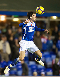 BIRMINGHAM, ENGLAND - Sunday, November 1, 2009: Birmingham City's Liam Ridgewell in action against Manchester City during the Premiership match at St Andrews. (Pic by David Rawcliffe/Propaganda)