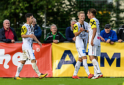 15.07.2017, Sportstadion Langau, Kitzbühel, AUT, Uniqa OeFB Cup, FC Eurotours Kitzbühel vs LASK Linz, 1. Runde, im Bild die Spieler von LASK Linz jubeln ueber das Tor zum 0:1 durch Peter Michorl (LASK Linz) // during the Uniqa OeFB Cup first round match between FC Eurotours Kitzbühel and LASK Linz at the Sportstadion Langau, Kitzbühel, Austria on 2017/07/15. EXPA Pictures © 2017, PhotoCredit: EXPA/ Stefan Adelsberger