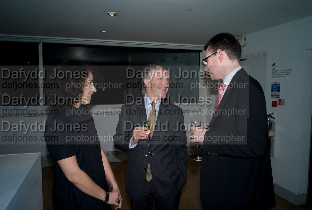 ALICE BLACK; JOHN OMEROD; MARK JONES. brit Insurance Design Awards 2009. Design Museum. London. 18 March 2009. *** Local Caption *** -DO NOT ARCHIVE-© Copyright Photograph by Dafydd Jones. 248 Clapham Rd. London SW9 0PZ. Tel 0207 820 0771. www.dafjones.com.<br /> ALICE BLACK; JOHN OMEROD; MARK JONES. brit Insurance Design Awards 2009. Design Museum. London. 18 March 2009.