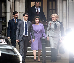 © Licensed to London News Pictures. 28/02/2020. London, UK. PRINCESS HAYA BINT AL HUSSEIN is seen leaving the Royal Courts of Justice in London where Sheikh Mohammed bin Rashid Al Maktoum and his wife Princess Haya Bint Al Hussein are in legal dispute over custody of their children. Princess Haya Bint Al Hussein has applied for a protection order and is seeking wardship of her children. Photo credit: Ben Cawthra/LNP