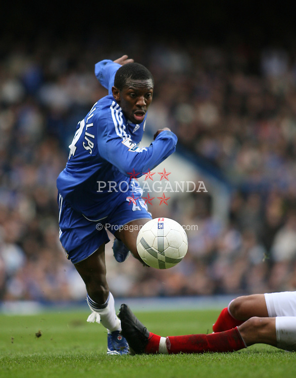 LONDON, ENGLAND - Sunday, January 28, 2007: Chelsea's Shaun Wright-Phillips in action against Nottingham Forest during the FA Cup 4th Round match at Stamford Bridge. Chelsea won 3-0. (Pic by Chris Ratcliffe/Propaganda)