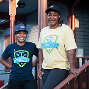 Oct. 15, 2014- Dominique Robinson and Shaina K Starks, of the HOPE crew working on the Martin Luther King Jr National Historic Site in Atlanta, GA.