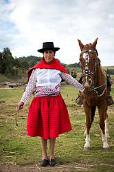 Rogelia Canchari en Ñuñunhuacco, Ayacucho.