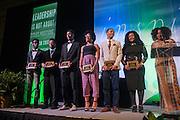 Marcus Cole, Jeffrey Billingslea, Nile Harris, Joshelyn Smith, DeJane Mauel, Michael Jones recieve the Blackburn-Spencer Achievement Award in Baker University Ballroom on Wednesday, April 1st.