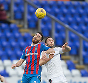 Inverness' Ross Draper and Dundee's Tom Hateley - Inverness Caledonian Thistle v Dundee in the Ladbrokes Scottish Premiership at Caledonian Stadium, Inverness.Photo: David Young<br /> <br />  - © David Young - www.davidyoungphoto.co.uk - email: davidyoungphoto@gmail.com