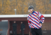 2018-11-11 | Jönköping, Sweden: Referee Patrick Bergemalm during the game between Jönköping Bandy IF and Åtvidaberg BK at Råslätts IP ( Photo by: Marcus Vilson | Swe Press Photo )<br /> <br /> Keywords: Råslätts IP, Jönköping, Bandy, Div. 1 Södra, Jönköping Bandy IF, Åtvidaberg BK, Referee, Patrick Bergemalm