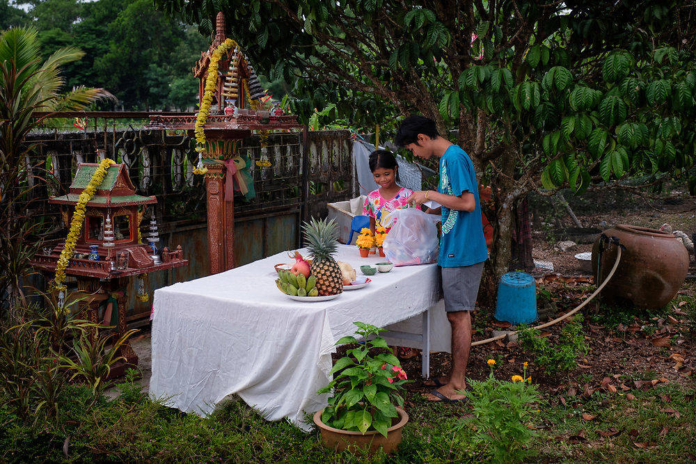 Annual Spirit House Blessing  2018 in Nakhon Nayok, Thailand