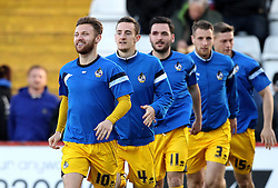 Matt Taylor of Bristol Rovers and his teammates warm up - Mandatory by-line: Robbie Stephenson/JMP - 19/04/2016 - FOOTBALL - Lamex Stadium - Stevenage, England - Stevenage v Bristol Rovers - Sky Bet League Two