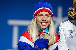 February 18, 2018 - Pyeongchang, SOUTH KOREA - 180218 Marte Olsbu of Norway , Bronze, celebrating at a Medal Ceremony for Women's 12.5km Mass Start during day nine of the 2018 Winter Olympics on February 18, 2018 in Pyeongchang..Photo: Petter Arvidson / BILDBYRN / kod PA / 91980 (Credit Image: © Petter Arvidson/Bildbyran via ZUMA Press)