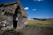 Built in 1332 this is the best preserved Caravanserai in Armenia, on the Selim Pass, one part of the original route of the great Silk road in the days when it ran from Iran through Goris in Armenia on its way to Europe.  Near Aghndjadzor, Armenia..Image © Arsineh Houspian/Falcon Photo Agency.