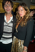 DAN WILLIAMS AND JADE JAGGER, Launch of the Fiat 500. London Eye. London. 21 January 2008. -DO NOT ARCHIVE-© Copyright Photograph by Dafydd Jones. 248 Clapham Rd. London SW9 0PZ. Tel 0207 820 0771. www.dafjones.com.