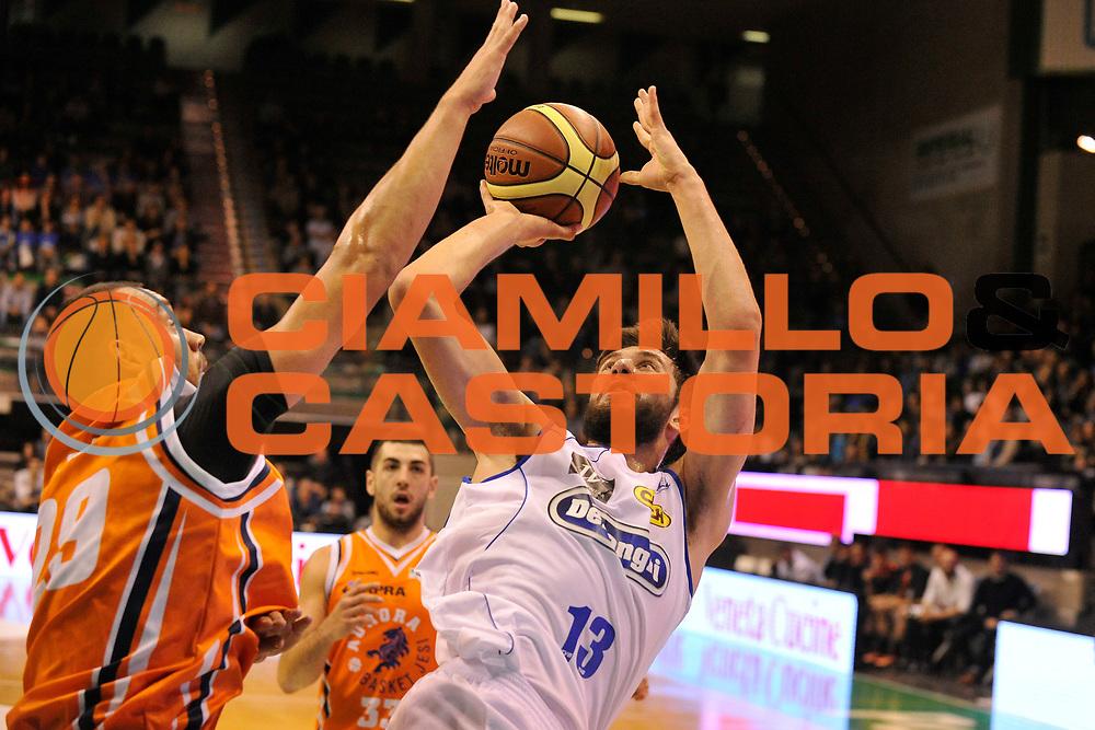 DESCRIZIONE : Treviso Lega due 2015-16  Universo Treviso De Longhi - Aurora Basket Jesi<br /> GIOCATORE : matteo fantinelli<br /> CATEGORIA : Tiro Equilibrio<br /> SQUADRA : Universo Treviso De Longhi - Aurora Basket Jesi<br /> EVENTO : Campionato Lega A 2015-2016 <br /> GARA : Universo Treviso De Longhi - Aurora Basket Jesi<br /> DATA : 31/10/2015<br /> SPORT : Pallacanestro <br /> AUTORE : Agenzia Ciamillo-Castoria/M.Gregolin<br /> Galleria : Lega Basket A 2015-2016  <br /> Fotonotizia :  Treviso Lega due 2015-16  Universo Treviso De Longhi - Aurora Basket Jesi