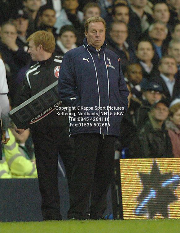 HARRY REDKNAPP, MANAGER TOTTENHAM HOTSPUR, SPURS, Tottenham Hotspur - Liverpool, Carling Cup White Hart Lane Wednesday 12th November 2008, 12/11/08