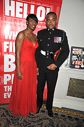 JOHNSON BEHARRY VC and TAMARA VINCNET at the Matterhorn Challenge Ball in aid of Combat Stress as part of their 90th anniversary celebrations held at The Berkeley Hotel, London on 11th June 2009.