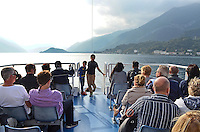 Good way to see Lake Como, Italy, is from the observation deck of the many ferry boats that criss-cross the lake. 4th October 2014, 201410043703<br /> <br /> Copyright Image from Victor Patterson, 54 Dorchester Park, Belfast, UK, BT9 6RJ<br /> <br /> t: +44 28 9066 1296<br /> m: +44 7802 353836<br /> vm +44 20 8816 7153<br /> <br /> e1: victorpatterson@me.com<br /> e2: victorpatterson@gmail.com<br /> <br /> www.victorpatterson.com<br /> <br /> IMPORTANT: Please see my Terms and Conditions of Use at www.victorpatterson.com