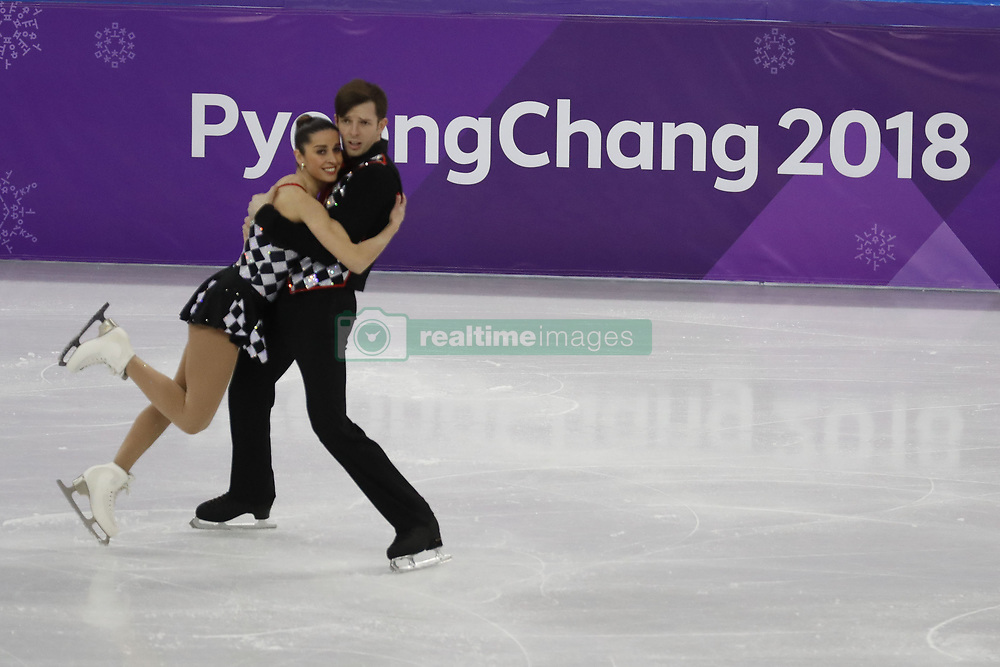 February 15, 2018 - Pyeongchang, KOREA - Valentina Marchei and Ondrej Hotarek of Italy compete in pairs free skating during the Pyeongchang 2018 Olympic Winter Games at Gangneung Ice Arena. (Credit Image: © David McIntyre via ZUMA Wire)