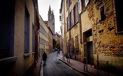 Looking along the Rue Furgole towards the Eglise du Gésu, Toulouse, France<br /> <br /> (c) Andrew Wilson | Edinburgh Elite media