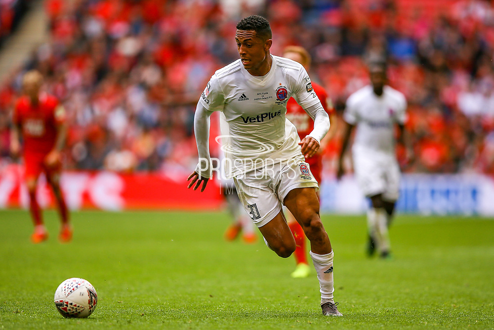AFC Flyde forward Alex Reid (30) during the FA Trophy final match between AFC Flyde and Leyton Orient at Wembley Stadium on 19 May 2019.