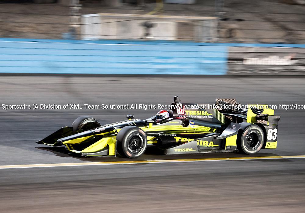 AVONDALE, AZ - APRIL 29: Chip Ganassi Racing driver Charlie Kimball (83) finished eighth in the Verizon IndyCar Desert Diamond West Valley Phoenix Grand Prix on April 29, 2017, at Phoenix International Raceway in Avondale, AZ. (Photo by Carlos Herrera/Icon Sportswire)