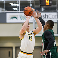 1st year forward Carter Millar (13) of the Regina Cougars in action during the home game on December  2 at Centre for Kinesiology, Health and Sport. Credit: Arthur Ward/Arthur Images