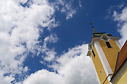 Neufelden, Austria. The church tower.