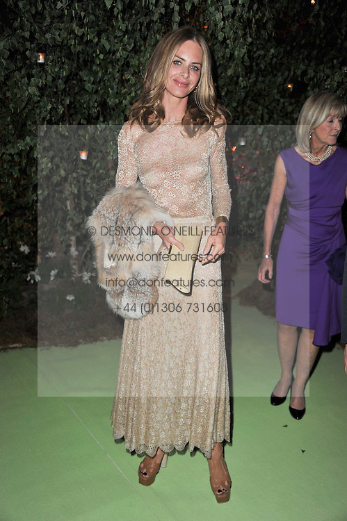 TRINNY WOODALL at a dinner hosted by Cartier in celebration of the Chelsea Flower Show held at Battersea Power Station, 188 Kirtling Street, London SW8 on 23rd May 2011.