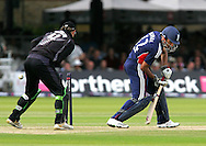 Photo © ANDREW FOSKER / SECONDS LEFT IMAGES 2008  - Ravi Bopara is beaten by the flight of a Daniel Vettori delivery and is bowled for 30 runs  England v New Zealand Black Caps - 5th ODI - Lord's Cricket Ground - 28/06/08 - London -  UK - All rights reserved