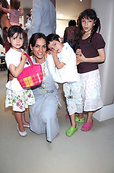 MAGGIE BOLGER and her children, left to right, INDIA, OSCAR and AZIA at a party to celebrate the 21st birthday of the children's charity Starlight held at Maggie & Rose, 58 Pembroke Road, London W8 on 12th May 2008.<br /><br />NON EXCLUSIVE - WORLD RIGHTS