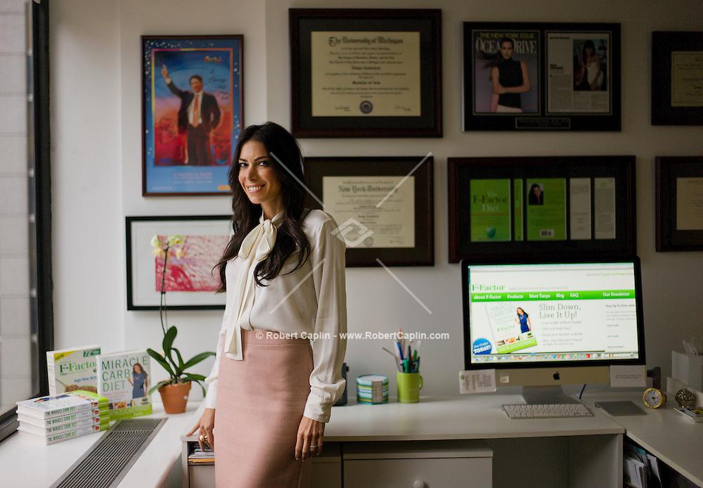 nutritionist tanya zuckerbrot in her new york office