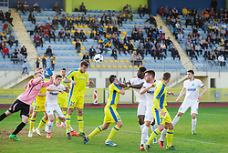 Miha Blazic #25 of NK Domzale during football match between NK Domzale and FC Luka Koper in 28th Round of Prva liga Telekom Slovenije 2015/16, on April 6, 2016 in Sports park Domzale, Slovenia. Photo by Vid Ponikvar / Sportida