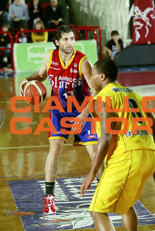 DESCRIZIONE : Montecatini Lega A2 2005-06 Agricola Gloria RB Montecatini Terme Ignis Basket Castelletto Ticino<br /> GIOCATORE : Niccolai A.<br /> SQUADRA : Agricola Gloria RB Montecatini Terme<br /> EVENTO : Campionato Lega A2 2005-2006<br /> GARA : Agricola Gloria RB Montecatini Terme Ignis Basket Castelletto Ticino<br /> DATA : 29/01/2006<br /> CATEGORIA : Palleggio<br /> SPORT : Pallacanestro<br /> AUTORE : Agenzia Ciamillo-Castoria/Stefano D'Errico