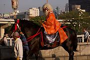 Sarutahiko the deity in the Tenjin Festival (Tenjin Matsuri) in Osaka.