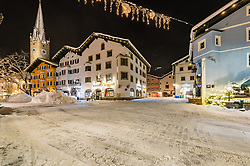 iTHEMENBILD - Die verschneite Stadt Kitzbuehel in den morgenstunden aufgenommen am 11. Jänner 2019, Kitzbuehel, Oesterreich // The snowy city of Kitzbuhel in the morning at Kitzbuehel, Austria on 2019/01/11. EXPA Pictures © 2019, PhotoCredit: EXPA/ Stefan Adelsberger