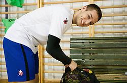 Gasper Marguc during the Training Camp before IHF Men's Handball World Championship Spain 2013 on January 9, 2013 in Zrece, Slovenia. (Photo By Vid Ponikvar / Sportida.com)