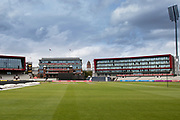 General views of the Emirates Old Trafford prior to the Vitality T20 Blast North Group match between Lancashire Lightning and Leicestershire Foxes at the Emirates, Old Trafford, Manchester, United Kingdom on 30 August 2019.