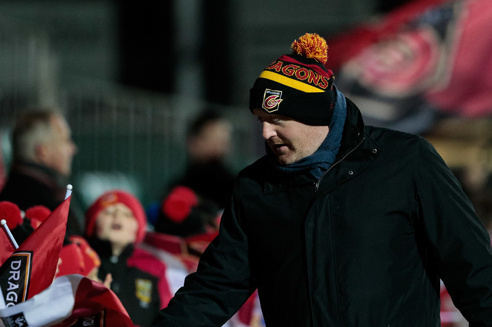 Dragons' Head Coach Bernard Jackman greeting fans ahead of the match<br /> <br /> Photographer Simon King/Replay Images<br /> <br /> Guinness Pro14 Round 10 - Dragons v Ulster - Friday 1st December 2017 - Rodney Parade - Newport<br /> <br /> World Copyright © 2017 Replay Images. All rights reserved. info@replayimages.co.uk - www.replayimages.co.uk