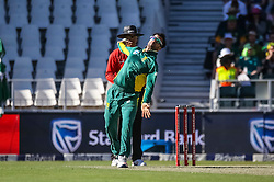 JP Duminy bowls for SA during the 2nd ODI match between South Africa and Australia held at The Wanderers Stadium in Johannesburg, Gauteng, South Africa on the 2nd October  2016<br /> <br /> Photo by Dominic Barnardt/ RealTime Images