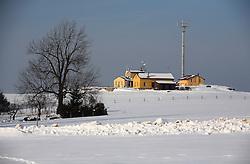 CZECH REPUBLIC VYSOCINA NEDVEZI 27JAN12 - Meterological station on a snowy hilltop in the village Nedvezi, Vysocina, Czech Republic.....jre/Photo by Jiri Rezac....© Jiri Rezac 2012