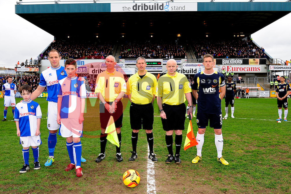 mascot  - Photo mandatory by-line: Dougie Allward/JMP - Mobile: 07966 386802 12/04/2014 - SPORT - FOOTBALL - Bristol - Memorial Stadium - Bristol Rovers v Torquay United - Sky Bet League Two